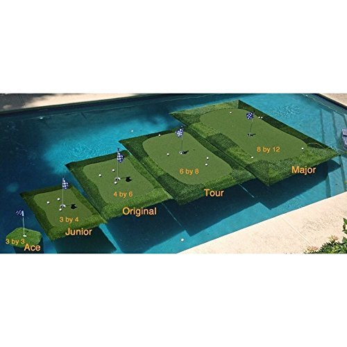 Floating Golf Green For Pools And Ponds, With Chipping Mat, Multiple Sizes  Available