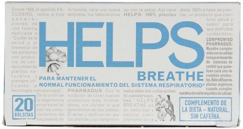 Helps Herbal Teas, Breathe, 20 Count (Pack of 6) by Helps