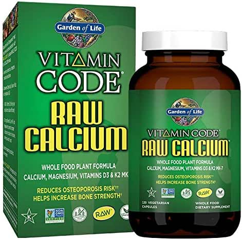 Garden of Life Raw Calcium Supplement - Vitamin Code Whole Food Calcium Vitamin for Bone Health, Vegetarian, 120 Capsules