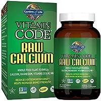 Garden of Life Raw Calcium Supplement - Vitamin Code Whole Food Calcium Vitamin for Bone Health, Vegetarian, 120 Capsules