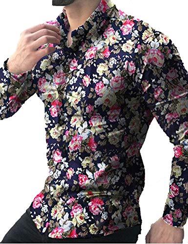 Flowered Long Sleeve Shirt - 8