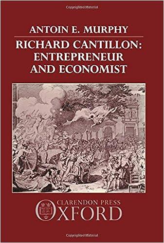 Richard Cantillon: Entrepreneur and Economist.