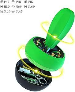 Lifegoo Cereus Screwdrivers Set Magnetic Driver ph0 ph1 ph2, SL3.0 SL4.5 SL6.0 Repair Tool Kit for Phone/Watches/Eyeglasses Household Electric Appliances Office Home Art Decoration Box