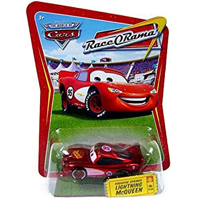 Disney / Pixar CARS Movie 1:55 Die Cast Car Series 4 Race-O-Rama Radiator Springs Lightning McQueen (Pink Paint Variation): Toys & Games