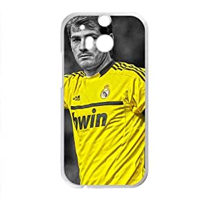 HUAH Soccer Real Madrid Iker Casillas HDR White Phone Case for HTC One M8