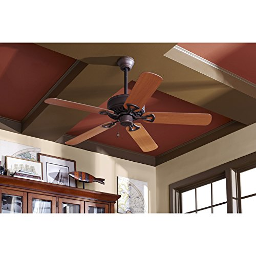 Harbor Breeze Classic 52-in Antique Bronze Downrod or Close Mount Indoor Ceiling Fan ENERGY STAR by Harbor Breeze