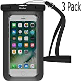 Waterproof Case,3 Pack iBarbe Universal Cell Phone Dry Bag Pouch Underwater Cover for Apple iPhone 7 7 plus 6S 6 6S Plus SE 5S 5c samsung galaxy Note 5 s8 s8 plus S7 S6 Edge s5 etc.to 5.7 inch,Black