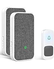 Coolqiya Wireless Doorbell Chime for Home with, 1000 Feet Long Range Transmission