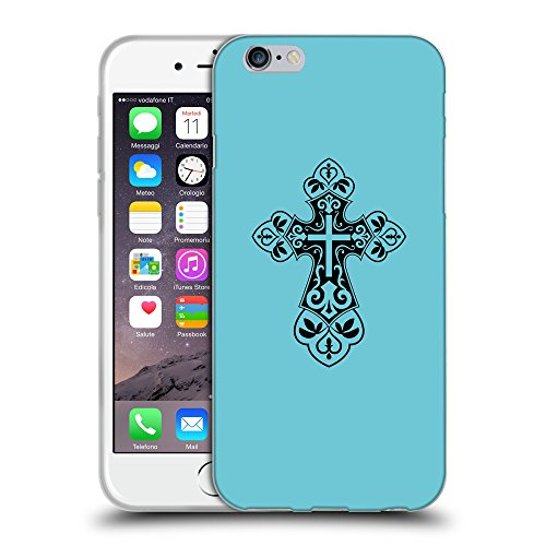 GoGoMobile Coque de Protection TPU Silicone Case pour // Q07820627 Christian Cross 7 Cyan // Apple iPhone 6 4.7""