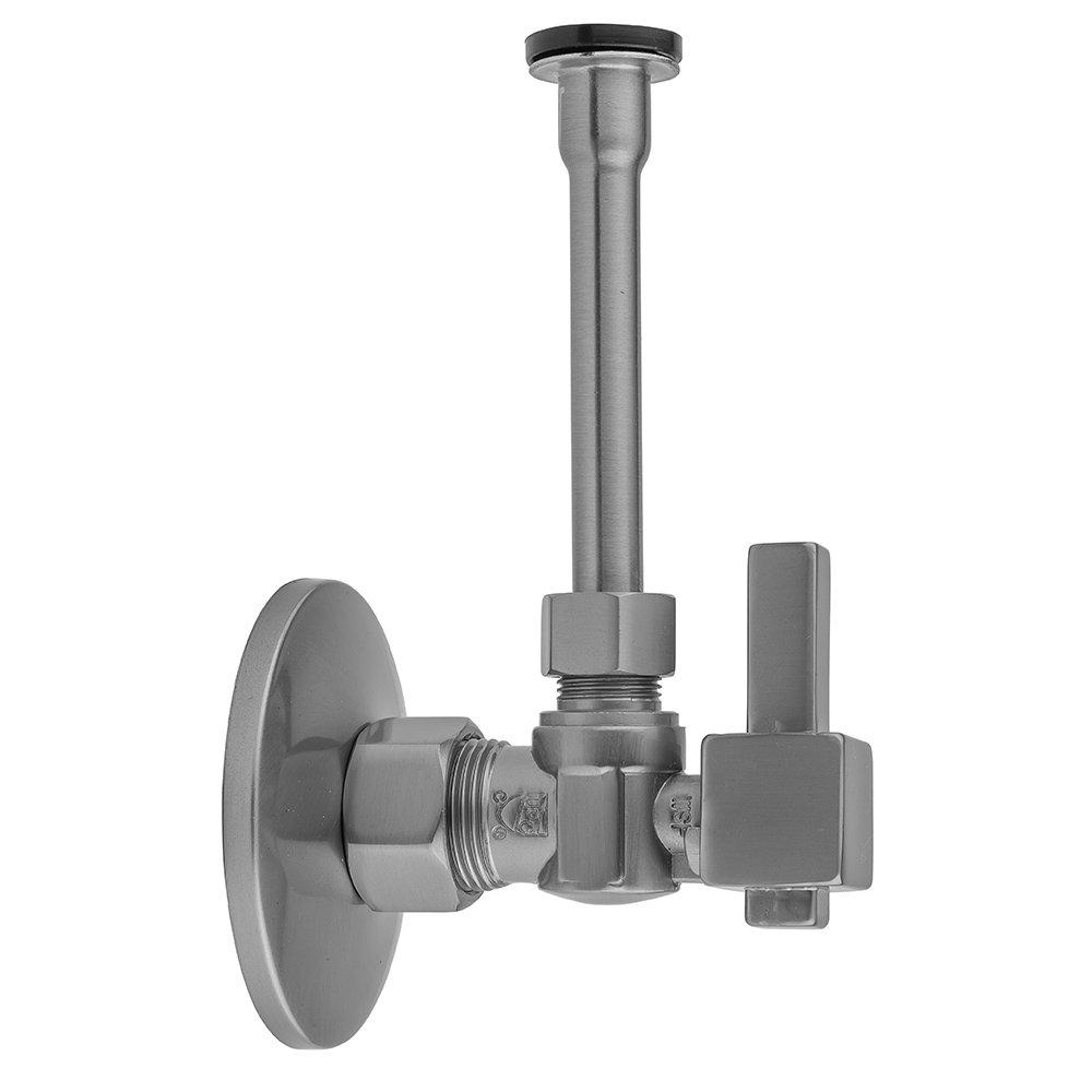 Satin Nickel Jaclo 621-6-72-SN Quarter Turn Valve Toilet Supply Kit with Cover Tube /& Square Lever 20