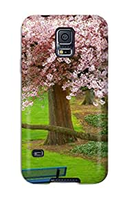 Jalik Davis Snap On Hard Case Cover Cherry Tree Evergreen Park Washington Protector For Galaxy S5