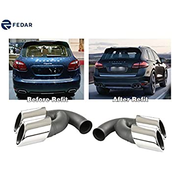 Fedar Fits 2011-2014 Porsche Cayenne V8 Stainless Steel Exhaust Pipe/Tip