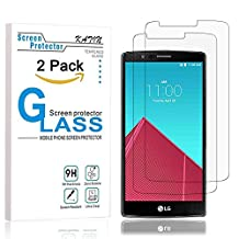 LG G4 Screen Protector - KATIN LGG4 [2-Pack] 3D Touch Compatible Premium Tempered Glass , 2.5D Rounded Edge with Lifetime Replacement Warranty