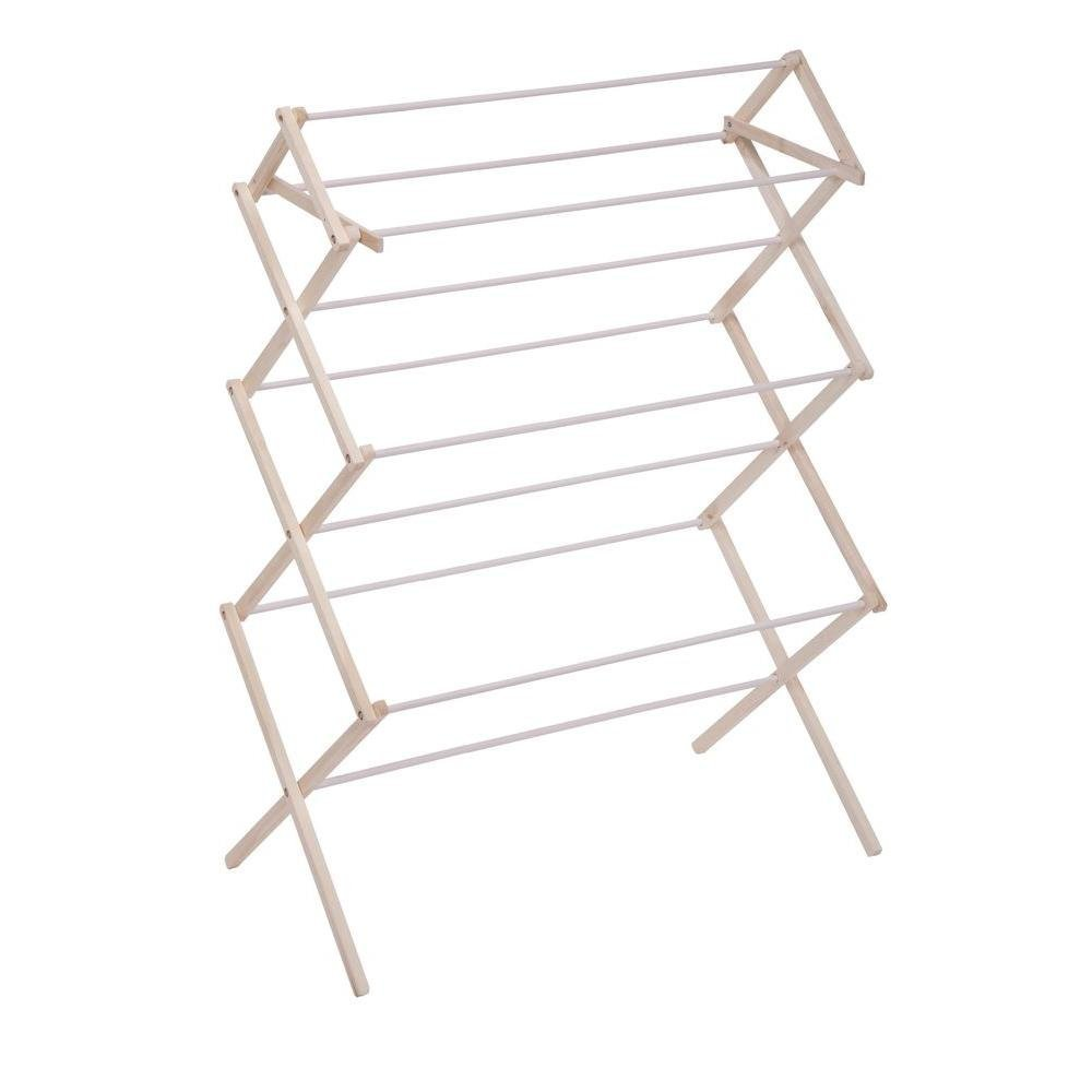 Amazon.com: Honey-Can-Do DRY-01168 Indoor Wood Folding Clothes Drying Rack: Home & Kitchen