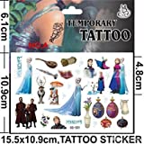 Disney's Frozen Temporary Tattoos (Set of 8 Sheets)(includes Princess Anna, Queen Elsa, Olaf, Kristoff and Sven)