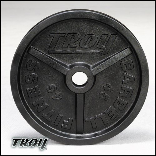 Buy troy barbell 10 lbs olympic rubber grip plate