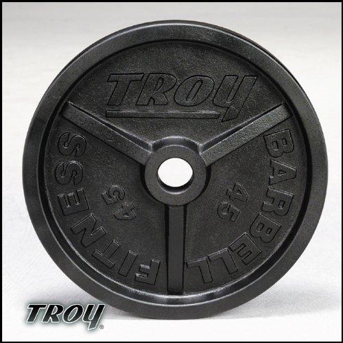Troy Premium Wideフランジ付きオリンピック重量プレート – ブラック – 5ポンド – 1ペア B002FEL3Q4