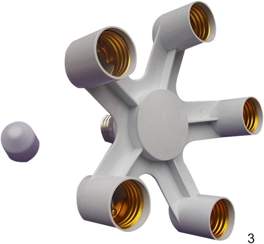 3 in 1 Base Douille S/éparateur Vaugan Lampe Douille pour E27 pour 3E27-1 LED Lampe Ampoule Adaptateur Support