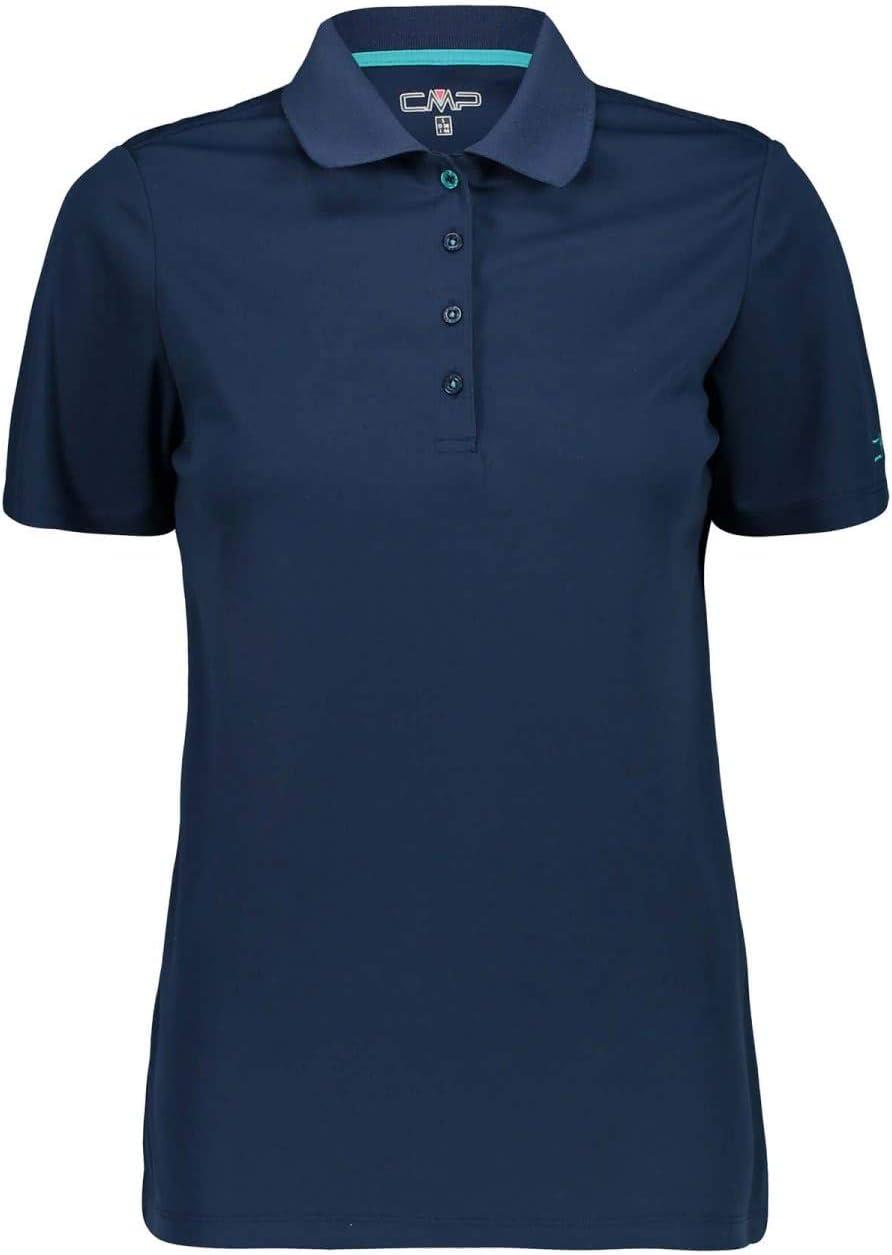 CMP Atmungsaktives Poloshirt mit Komfort Fit Polo Donna