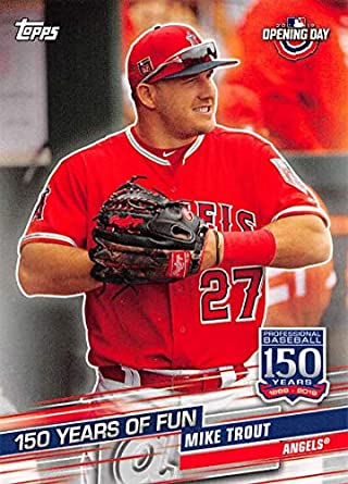 Topps All-Star Rookie 2013 Topps Opening Day #27 Mike Trout Baseball Card