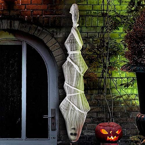 Halloween Decorations Props Sale (Sler Halloween Decorations Hanging Cocoon Corpse Halloween Props Decoration Scary Decor with Spider Web for Outdoor Indoor)