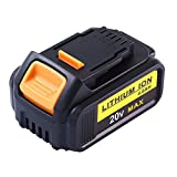 DCB205 Replacement for Dewalt 20V Max XR Battery 4.0Ah Lithium Ion DCB200 DCB201 DCB203 DCB204 DCB206 DCB207 High Capacity Cordless Power Tools