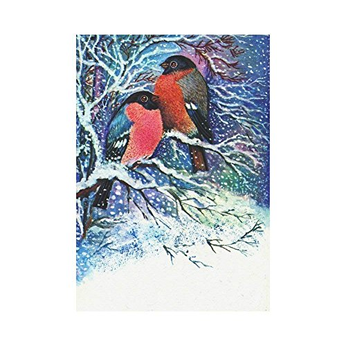 Pingshoes Christmas Bullfinches on Tree Polyester Garden Fla
