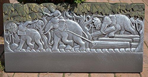 Edge Stone Mold Elephant Border Mould ABS Plastic Concrete Cement FENCE #BR13 (Decorative Concrete Molds)
