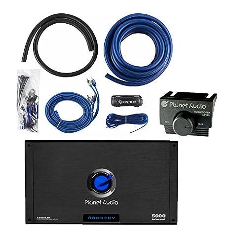Planet Audio AC5000.1D 5000W Monoblock Class D Car Amplifier + 1/0 Gauge Amp Kit (Amplifier Monoblock 5000 Watts)