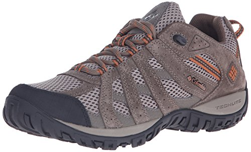 Columbia Men's Redmond Trail Shoe, Pebble/Dark Ginger, 9.5 M US by Columbia