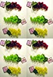 Set of 12 Faux Artificial Grapes! 12 Bunches in 3 Different Colors! Red, Yellow, Green!