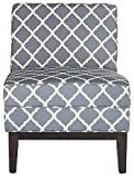 Safavieh Mercer Collection Armond Navy and Espresso 33-inch Accent Chair