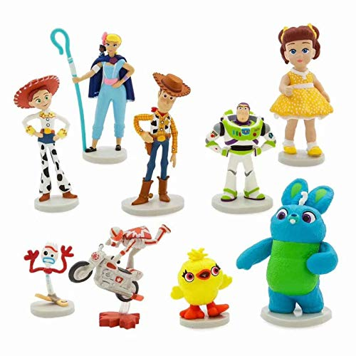PAPCOOL Set 9 Toy Figures 1.3 - 2 inch Hot Toys Woody Buzz Lightyear Mini Small Characters Action Figure Christmas Collectibles Halloween Collectable Gifts Collectible Big Large Gift for Little Kids