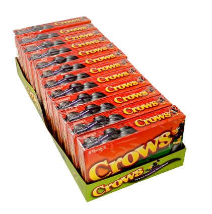 Crows Licorice Flavored Gumdrops 6.5 Ounce Box - 12 / Case