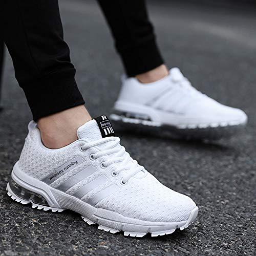 Running Montaña Zapatos para Hombre De En Deportes Blanco Zapatillas Aire Wealsex para Correr Asfalto Libre aIqqPxA