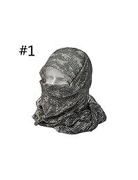 """Forfar Niceou - Máscara táctica de Malla para Bufanda, Shemagh Sniper Vel, 68""""x83"""" Camo Negro Caqui OD"""