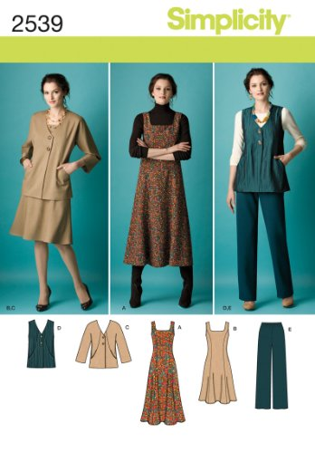 Simplicity Pattern 2539 Misses Jumper in 2 Lengths, Pants and Jacket or Vest Sizes ()