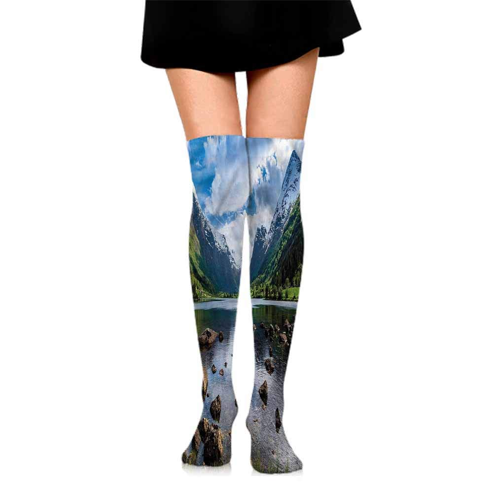 Sock for Male Gifts Nature,Reflections on Lake,socks men pack low cut