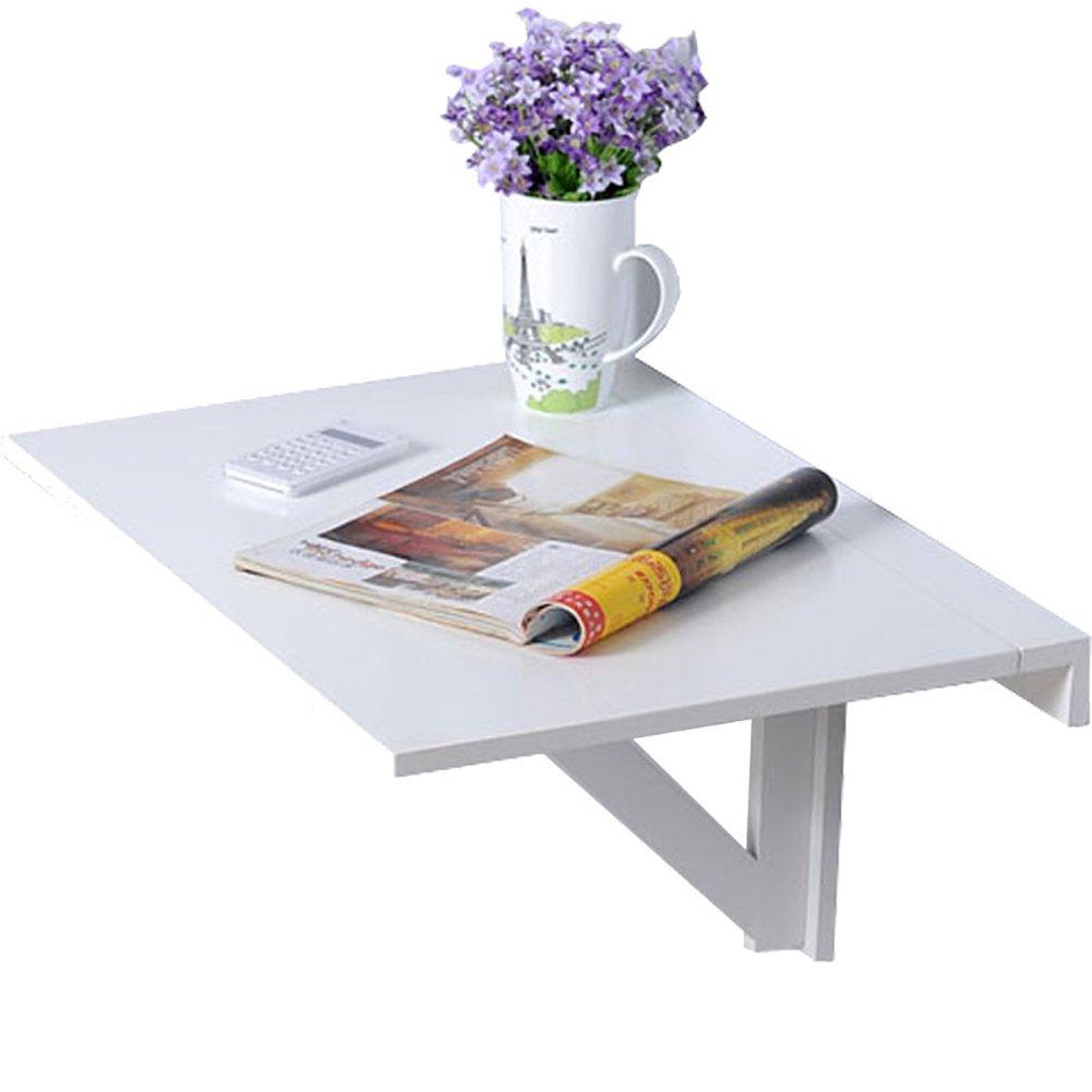 WNX Weißer Klapptisch hölzerner an der Wand befestigter Schreibtisch-Haushalts-Raumersparnis-Kind-Studien-Schreibtisch (größe : 50  80cm)