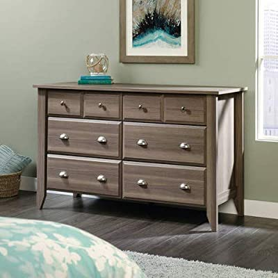 Shoal Creek 6-Drawer Dresser + Expert Guide - Modernize your bedroom with the sleek and sophisticated Shoal Creek Dresser. It's a stylish way to increase your storage space. With its dark finish and brushed metal handles, this contemporary dresser adds elegance to your bedroom decor. - dressers-bedroom-furniture, bedroom-furniture, bedroom - 51DBrPDjMjL. SS400  -