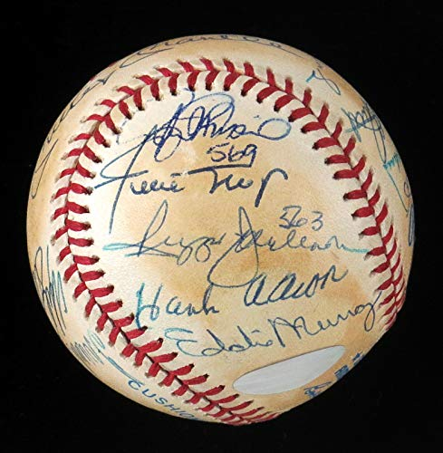 (Extraordinary 500 Home Run Club Signed Baseball With 18 Sigs! Ted Williams JSA )