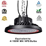 Miiruop 100W UFO LED High Bay Light, 400W HID/HPS