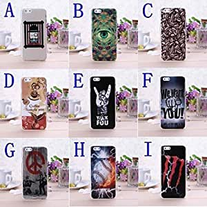 Fashion Abstract New Color Pattern Plastic Hard Cover for iPhone 6 ,Color:C Protective Smartphone Shell