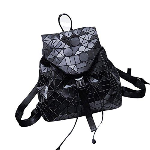 Black Solo Fashion Hombro Bolsa Celosía Urbano Multicolor Geometría Cool Damas Mochila Diamante Mujeres Para Láser 80nz56Wqq