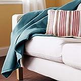 Sunbeam Heated Blue Throw Blanket Electric Warming