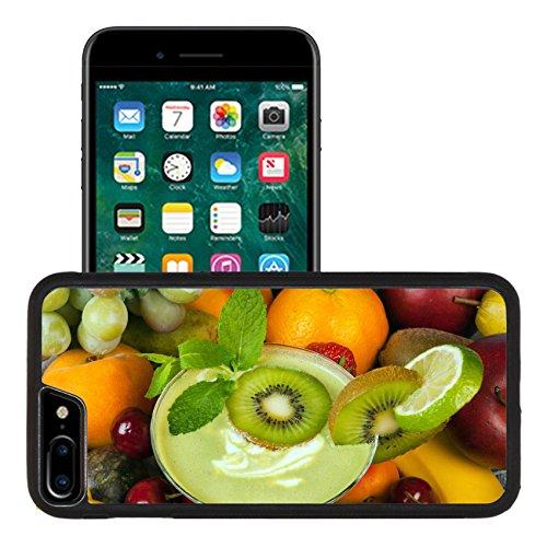 Liili Premium Apple iPhone 7 plus iPhone 8 plus Aluminum Snap Case Kiwi smoothie surrounded by an abundance of summer fruits IMAGE ID (Abundance Fruit)