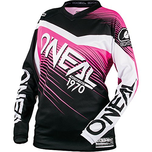 O'Neal 0008-704 Women's Element Racewear Jersey (Black/Pink, - Womens Oneal Element