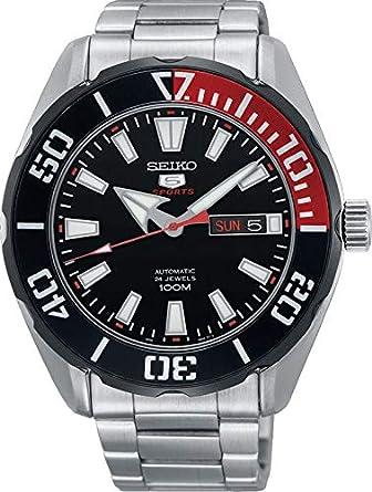 Seiko Reloj Analógico para Hombre de Automático con Correa en Acero Inoxidable SRPC57K1: Amazon.es: Relojes