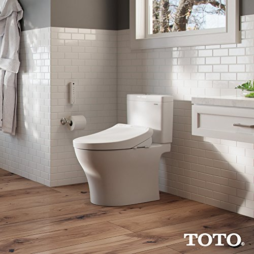 TOTO SW3036#01 K300 WASHLET Electronic Bidet Toilet Seat with Instantaneous Water Heating with PREMIST and SoftClose Lid, Elongated, Cotton White