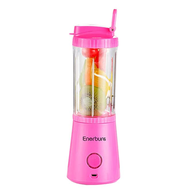 BNMYSY Juicer Portable USB Rechargeable Sports Cup Household Fresh Fruit Juicer Separable Gift Mixer,Pink